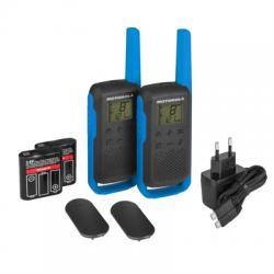 MOTOROLA T62 Walkie Talkie 8Km 16CH Azul - Imagen 1