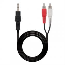 Nanocable Cable audio Jack 3.5/M-2xRCA/M, 3 m - Imagen 1