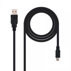 Nanocable Cable USB 2.0, A/M-Mini B/M, negro, 0.5m - Imagen 1