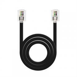 Nanocable Cable de teléfono 6P4C, M-M, negro, 2 m - Imagen 1