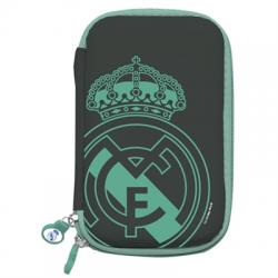 "Real Madrid Funda Disco Duro 2.5"" Negra Escudo - Imagen 1"