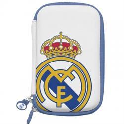 "Real Madrid Funda Disco Duro 3.5"" Blanca Escudo - Imagen 1"