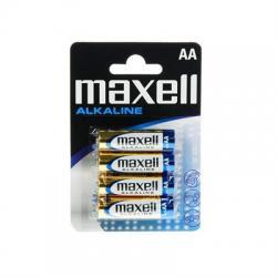 Maxell Pila Alcalina 1.5V Tipo AA Pack4 - Imagen 1