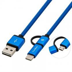 Coolbox Cable MULTIUSB MICRO/C Azul - Imagen 1