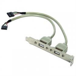 Gembird Cable USB 2.0 Panel Posterior 2xUSB 0.25Mt - Imagen 1