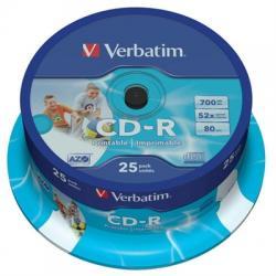 Verbatim CD-R 700MB 52x Tarrina 25Uds - Imagen 1