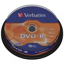 Verbatim DVD-R 4.7GB 16x Tarrina 10Uds - Imagen 1