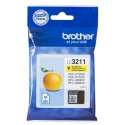 Brother Cartucho LC3211Y Yellow  Blister - Imagen 1