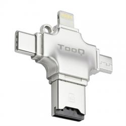 Tooq Lector de tarjetas externo 4en1 para MicroSD - Imagen 1