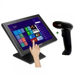 "KIT iggual Monitor Táctil 15"" + Lector 1D Imag.USB - Imagen 1"