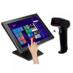 "KIT iggual Monitor Táctil 15"" + Lector 1D Lás USB - Imagen 1"