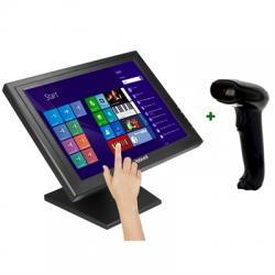 "KIT iggual Monitor Táctil 17"" + Lector 1D Imag USB - Imagen 1"