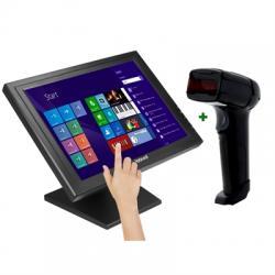 "KIT iggual Monitor Táctil 17"" + Lector 1D Lás. USB - Imagen 1"